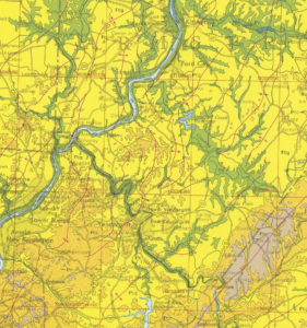 Map showing Parks Township Geology