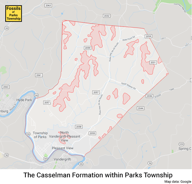 Cassleman Formation in Parks Township