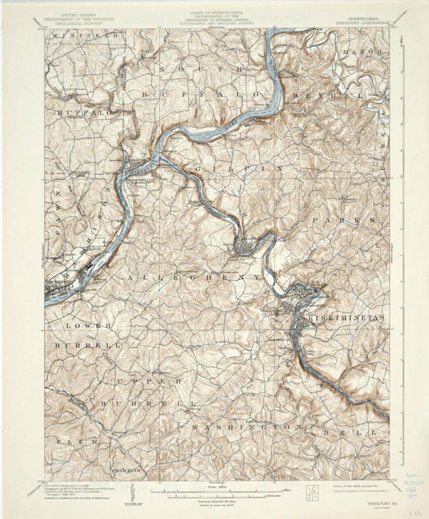 The Freeport Quadrangle Map.